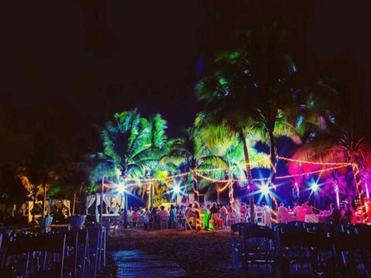 Bodas en la playa paquetes - palmeras de noche