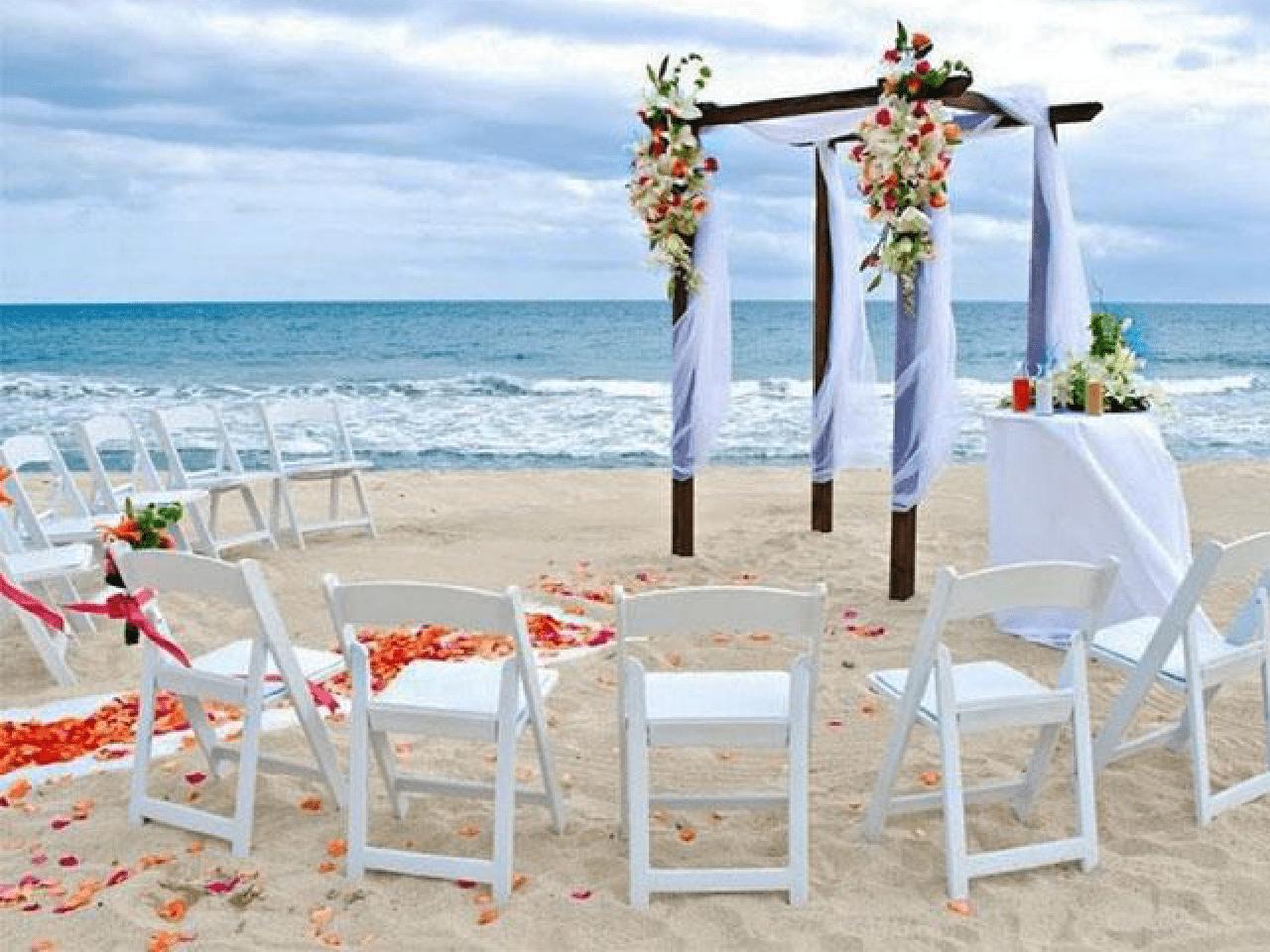 Bodas en la playa - decoración