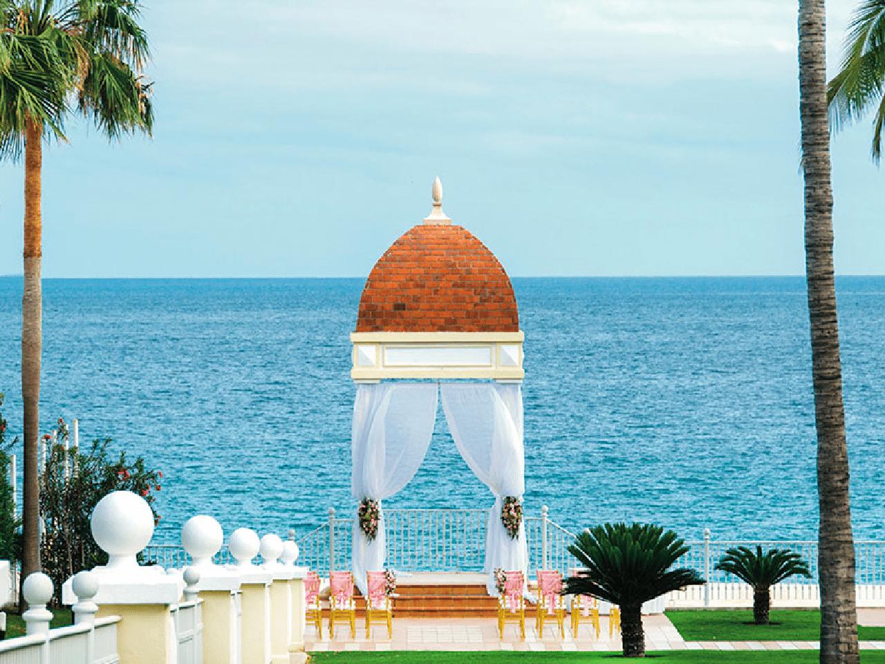 vista de Bodas en la playa