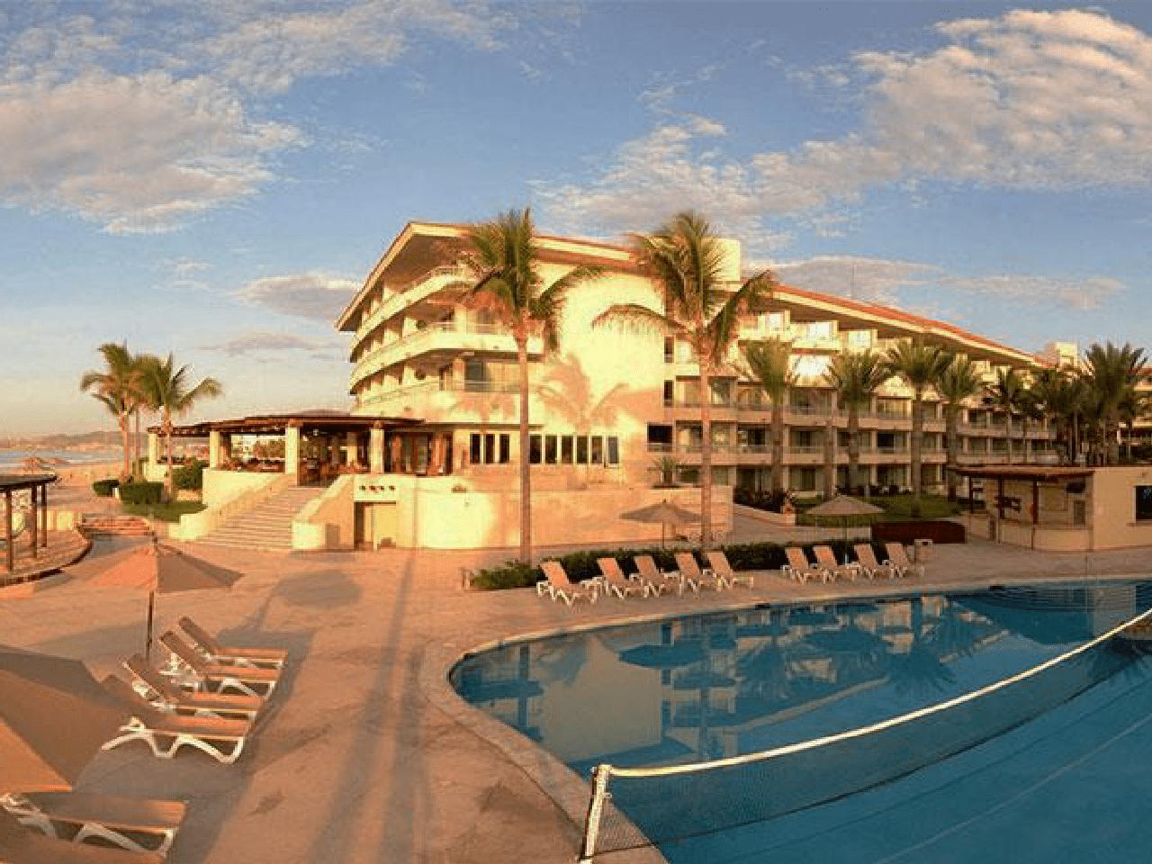 Bodas en la playa - vista de hotel