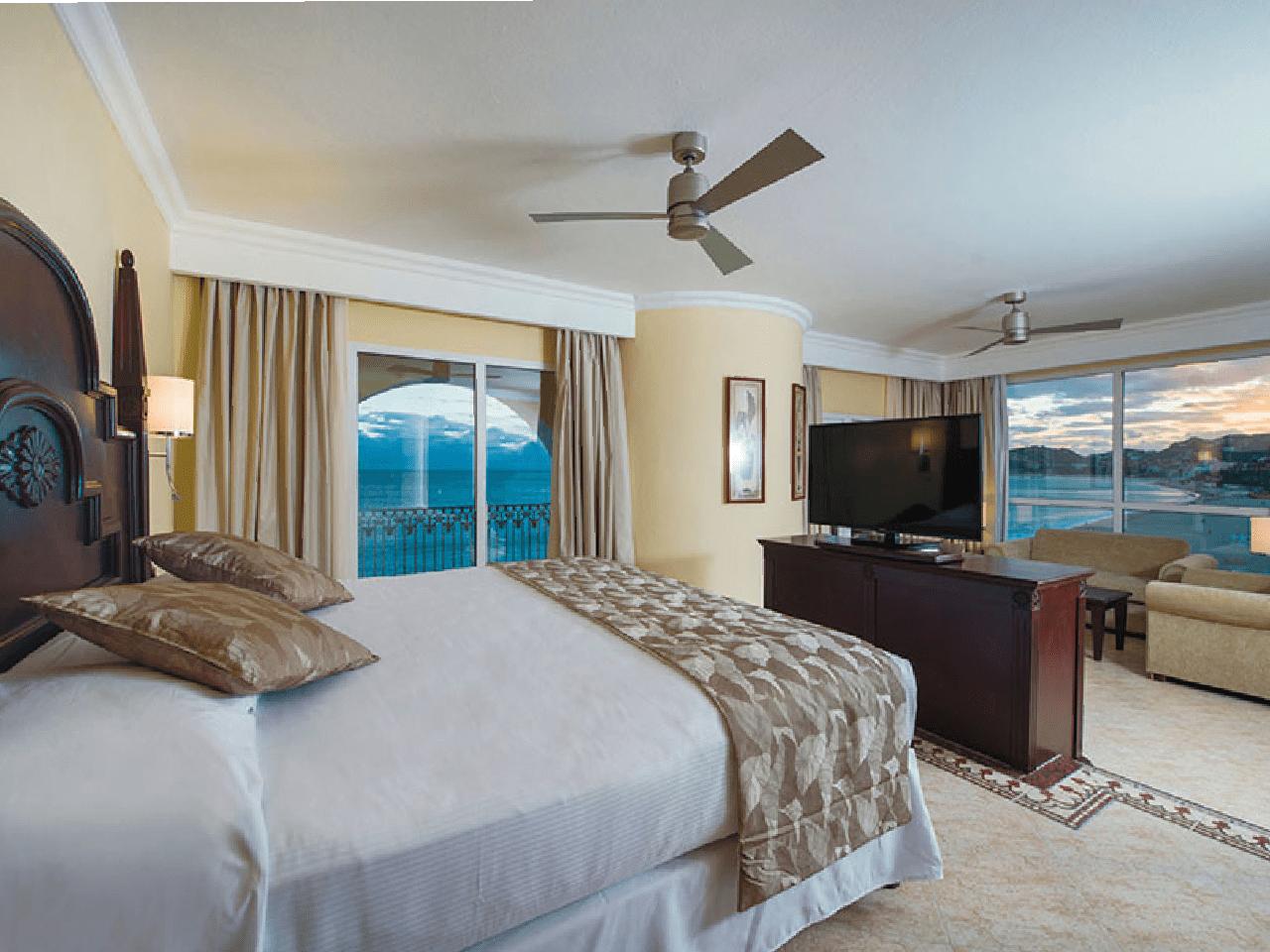 Bodas en la playa - habitación de hotel