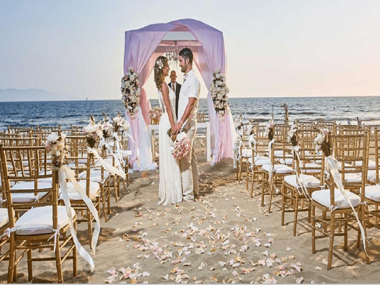 Paquetes de bodas en la playa - celebración