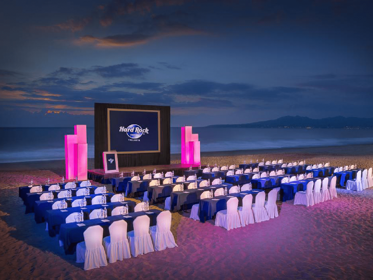 Bodas en la playa - panatalla - show - boda