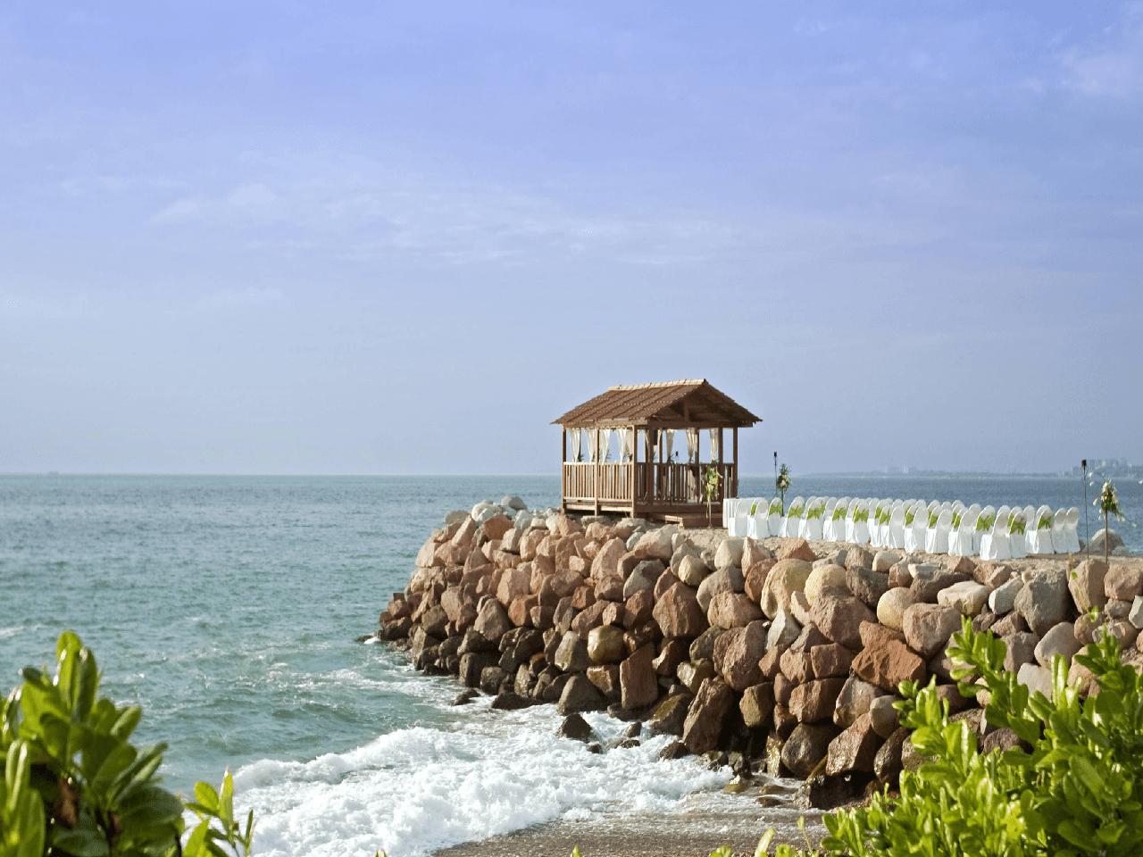 Bodas en la playa- mar vista