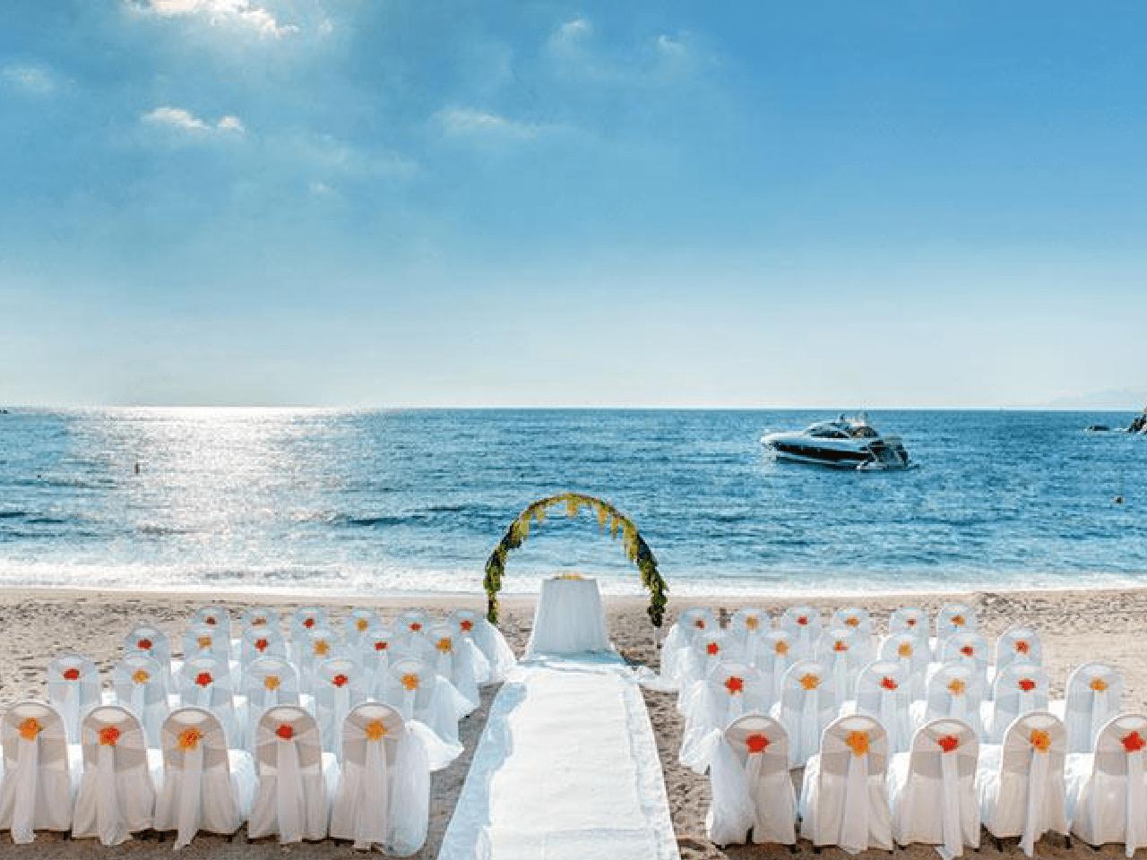 Bodas en la playa paquetes - decoración